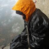 Sleeping in cold rain on The Nose, Yosemite - U.S.
